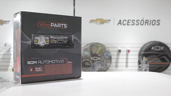 Imagem ilustrativa da oferta de RÁDIO COM BLUETOOTH + AUTOFALANTES + ANTENA INTERNA